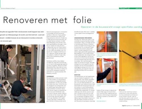 Renoveren met folie