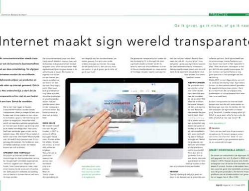 Internet maakt sign wereld transparanter