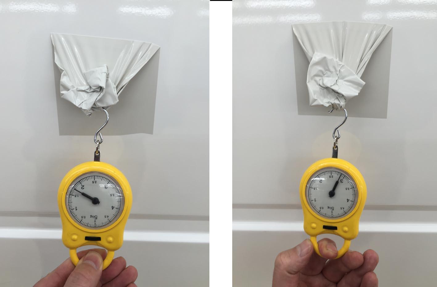 Het verschil tussen slecht ontvet (links) en goed ontvet (rechts) is meetbaar.